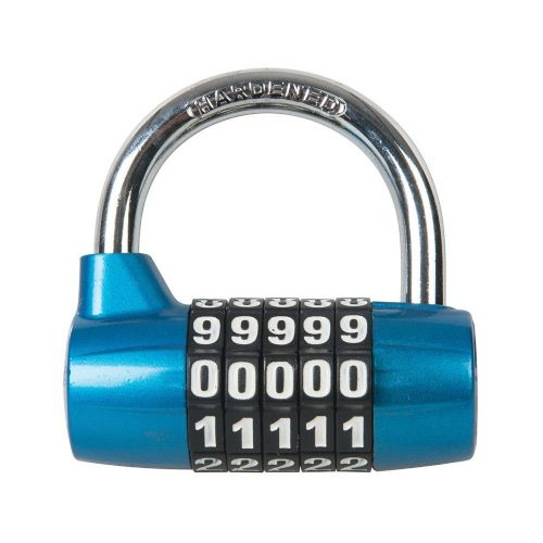 Silverline 425105 Zinc Alloy Combination Padlock 5 Digit 65mm